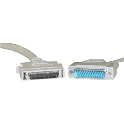 WholesaleCables.com 10P1-04106 6ft SCSI II cable HPDB50 (Half Pitch DB50) Male to DB25 Male 19 Twisted Pairs