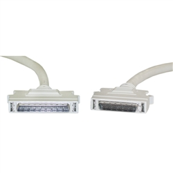 WholesaleCables.com 10P2-03106 6ft SCSI II cable HPDB68 (Half Pitch DB68) Male to HPDB50 (Half Pitch DB50) Male 25 Twisted Pairs Latch