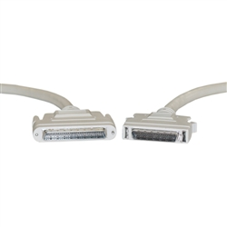 WholesaleCables.com 10P2-23106 6ft SCSI II cable HPDB68 (Half Pitch DB68) Male to HPDB50 (Half Pitch DB50) Male 25 Twisted Pairs Screw