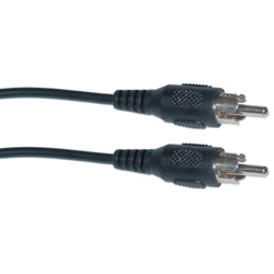 WholesaleCables.com 10R1-01150 50ft RCA Audio / Video Cable RCA Male