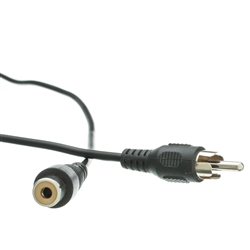 10R1-01225 25ft RCA Audio / Video Extension Cable RCA Male to RCA Female