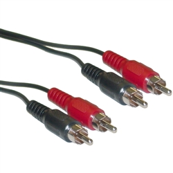 WholesaleCables.com 10R1-02106 6ft RCA Stereo Audio Cable Dual RCA Male 2 channel (Right and Left)