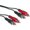 WholesaleCables.com 10R1-02135 35ft RCA Stereo Audio Cable Dual RCA Male 2 channel (Right and Left)