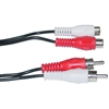 WholesaleCables.com 10R1-02206 6ft RCA Stereo Audio Extension Cable 2 RCA Male to 2 RCA Female