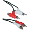 WholesaleCables.com 10R1-02506 6ft RCA Audio Piggyback Cable 2 RCA Male to 2 RCA Male + RCA Female Piggyback