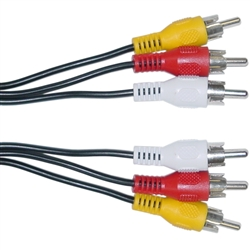 WholesaleCables.com 10R1-03106 6ft RCA Audio / Video Cable 3 RCA Male