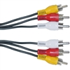 WholesaleCables.com 10R1-03125 25ft RCA Audio / Video Cable 3 RCA Male