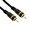 WholesaleCables.com 10R2-01175 75ft High Quality Composite Video Cable RCA Male Gold-plated Connectors