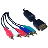 10R2-31106 6ft Playstation Component Video and RCA Stereo Audio HD Cable 3 Component RCA Video Male and 2 Audio RCA Male