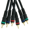 10R2-33125 25ft High Quality Component Video Cable, 3 RCA (RGB) Male