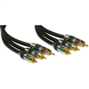 WholesaleCables.com 10R4-03125 25ft Premium Component Video RCA Cable 3 RCA Male 24K Gold connectors CL2