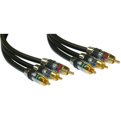 WholesaleCables.com 10R4-03175 75ft Premium Component Video RCA Cable 3 RCA Male 24K Gold Connectors CL2