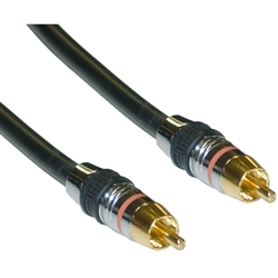 WholesaleCables.com 10R4-11135 35ft Premium Digital Coaxial RCA Cable RCA Male 24K Gold Connectors