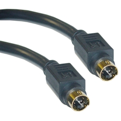 WholesaleCables.com 10S2-01150G 50ft S-Video Cable MiniDin4 Male Gold-plated connector