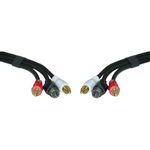 WholesaleCables.com 10S2-03112 12ft S-Video and RCA Stereo Audio Cable MiniDin4 Male and 2 RCA Male
