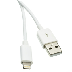 WholesaleCables.com 10U2-05101.5WH 1.5ft White USB Apple Authorized Lightning Cable