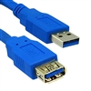 WholesaleCables.com 10U3-02110E 10ft USB 3.0 Extension Cable Blue Type A Male / Type A Female