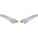 WholesaleCables.com 10V2-02503 3ft High Quality Component Video Cable 3 RCA Male (RGB) Gold-plated Connectors