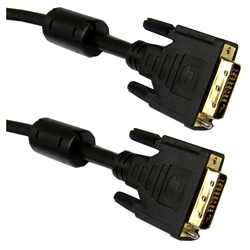 WholesaleCables.com 10V2-05303BK-F 3meter 10ft DVI-D Dual Link Cable with Ferrite Black DVI-D Male