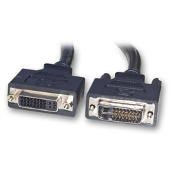 WholesaleCables.com 10V2-07205BK 5meter 16.5ft DVI-D Dual Link Extension Cable Black DVI-D Male to DVI-D Female
