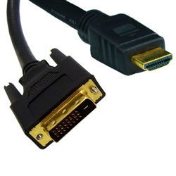 10V3-21515 15ft HDMI to DVI Cable HDMI Male to DVI Male CL2 rated