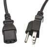 WholesaleCables.com 10W1-01203 3ft Computer / Monitor Power Cord Black NEMA 5-15P to C13 10 Amp UL/CSA rated