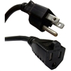 WholesaleCables.com 10W1-04225-16 25ft Power Extension Cord Black NEMA 5-15P to NEMA 5-15R 13 Amp 16 AWG UL/CSA rated