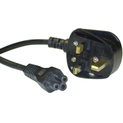 WholesaleCables.com 10W1-15406 6ft England / UK Notebook/Laptop Power Cord with Fuse BS 1363 to C5 Polarized VDE Approved