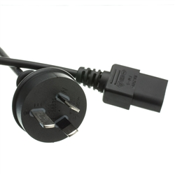 WholesaleCables.com 10W1-19206 6ft Australian Computer/Monitor Power Cord AS/NZS 3112 to C13