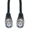 WholesaleCables.com 10X1-01125 25ft BNC RG58/AU Coaxial Cable Black BNC Male Copper Stranded Center Conductor