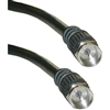 WholesaleCables.com 10X2-01112 12ft F-pin RG59 Coaxial Cable Black F-pin Male