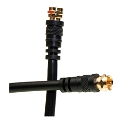 WholesaleCables.com 10X4-01106 6ft F-pin RG6 Coaxial Cable Black F-pin Male UL rated
