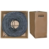 WholesaleCables.com 10X4-022TH 1000ft Bulk RG6 Coaxial Cable Black 18 AWG Solid Core Pullbox