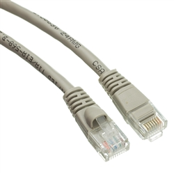 WholesaleCables.com 10X6-02130 30ft Cat5e Gray Ethernet Patch Cable Snagless/Molded Boot