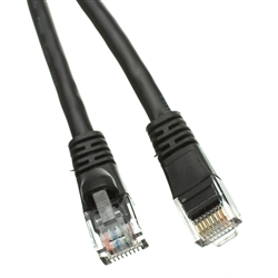 WholesaleCables.com 10X6-02235 35ft Cat5e Black Ethernet Patch Cable Snagless/Molded Boot