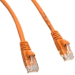 WholesaleCables.com 10X6-03175 75ft Cat5e Orange Ethernet Patch Cable Snagless/Molded Boot