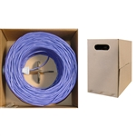 10X6-041TH 1000ft Bulk Cat5e Purple Ethernet Cable Solid UTP Pullbox