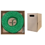 10X6-051SH 1000ft Bulk Cat5e Green Ethernet Cable Stranded UTP (Unshielded Twisted Pair) Pullbox