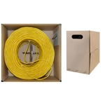 10X6-081TH 1000ft Bulk Cat5e Yellow Ethernet Cable Solid UTP (Unshielded Twisted Pair) Pullbox