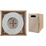 10X6-091TH 1000ft Bulk Cat5e White Ethernet Cable Solid UTP (Unshielded Twisted Pair) Pullbox