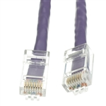 10X6-14101 1ft Cat5e Purple Ethernet Patch Cable Bootless