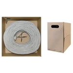 WholesaleCables.com 10X8-021TH 1000ft Bulk Cat6 Gray Ethernet Cable Solid UTP (Unshielded Twisted Pair) Pullbox