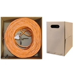 10X8-031TH 1000ft Bulk Cat6 Orange Ethernet Cable Solid UTP (Unshielded Twisted Pair) Pullbox