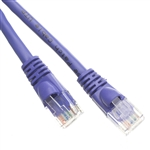 WholesaleCables.com 10X8-04101 1ft Cat6 Purple Ethernet Patch Cable Snagless/Molded Boot