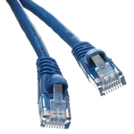 WholesaleCables.com 10X8-06101 1ft Cat6 Blue Ethernet Patch Cable Snagless/Molded Boot