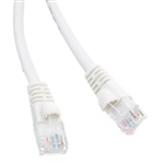 WholesaleCables.com 10X8-09101 1ft Cat6 White Ethernet Patch Cable Snagless/Molded Boot