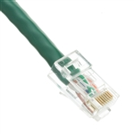 WholesaleCables.com 10X8-15101 1ft Cat6 Green Ethernet Patch Cable Bootless