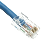 WholesaleCables.com 10X8-16101 1ft Cat6 Blue Ethernet Patch Cable Bootless