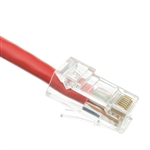 WholesaleCables.com 10X8-17101 1ft Cat6 Red Ethernet Patch Cable Bootless