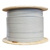 WholesaleCables.com 10X8-521NH 1000ft Bulk Shielded Cat6 Gray Ethernet Cable STP (Shielded Twisted Pair) Solid Spool